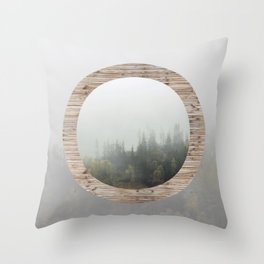 At the still point of the turning world. Throw Pillow