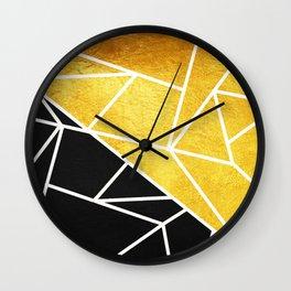Coal and Gold Wall Clock