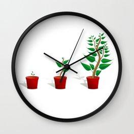 Plant Growth Wall Clock