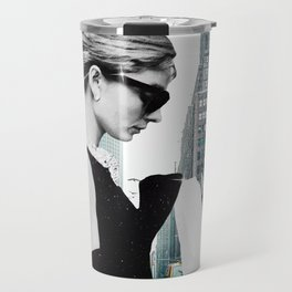 """""""Audrey In The City"""" Photo Montage Travel Mug"""