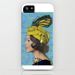 Woman with Butterfly iPhone Case