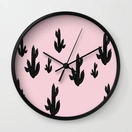 tree kartus pink Wall Clock