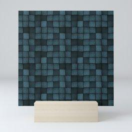 Wood Blocks-Blue Mini Art Print