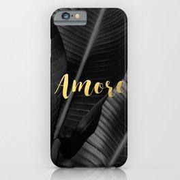 Love (amore) gold - bw banana leaf iPhone Case