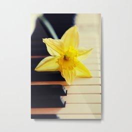 piano flower Metal Print