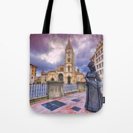 Cathedral of San Salvador  in Oviedo. Tote Bag