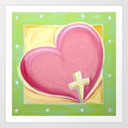 Heart with Cross Art Print