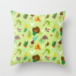 seychelles on land pattern- big Throw Pillow