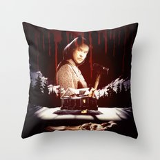 The Horror of Misery Throw Pillow