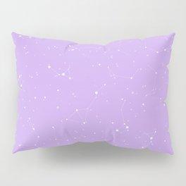 Pastel Purple Night Sky Pillow Sham