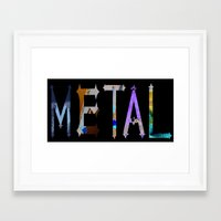 metal Framed Art Prints featuring Metal by Dymond Speers