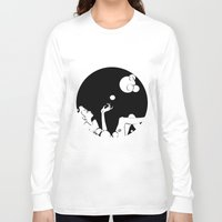 bubble Long Sleeve T-shirts featuring bubble  by Līva
