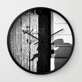 Photographer's Shadow Wall Clock