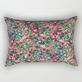 Rose Romance Pattern Rectangular Pillow