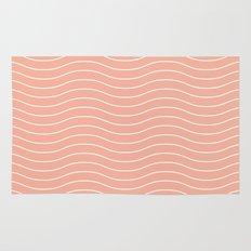 Peach Waves Rug