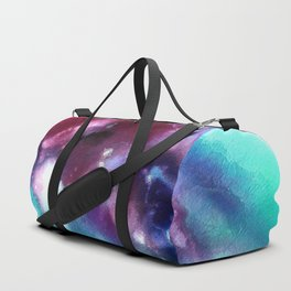 Abstract in Purple and Blue Duffle Bag