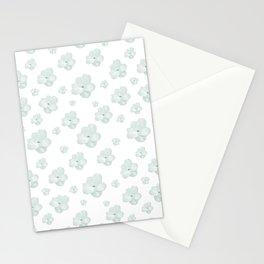 Pastel Floral Motif Pattern Stationery Cards