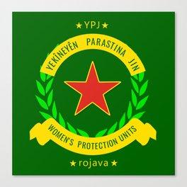 YPJ, Women's Protection Units Canvas Print
