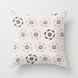 Can you see the pencil? Pink and anthracite Throw Pillow
