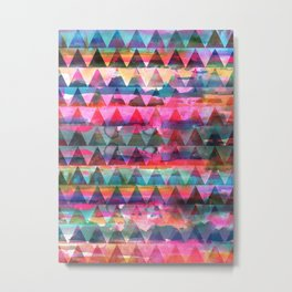 Kiana Triangle Metal Print