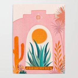 The Day Begins / Desert Garden Landscape Poster