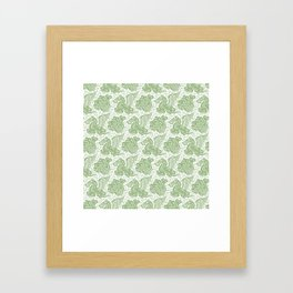 Pegasus Pattern Nile Green Framed Art Print