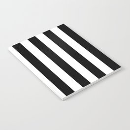 Parisian Black & White Stripes (vertical) Notebook