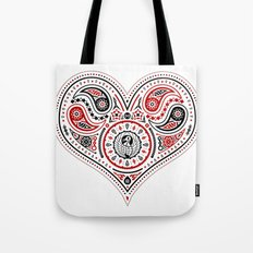 83 Drops - Hearts (Red & Black) Tote Bag