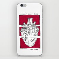house of cards iPhone & iPod Skins featuring House of Cards in Red  by Art by Alexandra