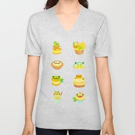 Sweet Lemon frog Unisex V-Neck
