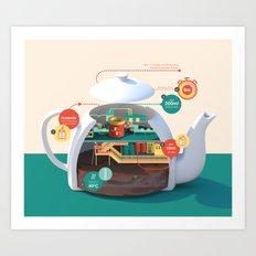 How to make the best pot of tea Art Print