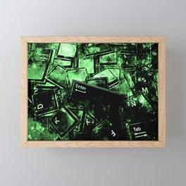 keyboard keys letters wsde Framed Mini Art Print
