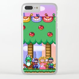 Super Mario World Happy Ending Clear iPhone Case