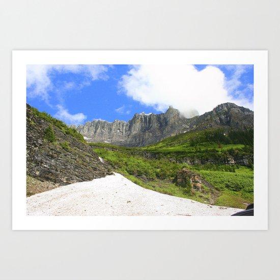 Peaks and Glaciers Art Print
