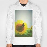 sunflower Hoodies featuring Sunflower by Falko Follert Art-FF77