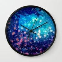 ferris wheel Wall Clocks featuring Ferris Wheel  by kpatron