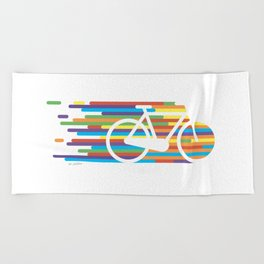 Colorful bicycle 1 Beach Towel