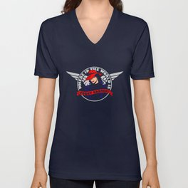 Where in the World is Peggy Carter? Unisex V-Neck