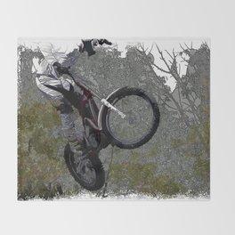 Off-roading - Motocross Racing Throw Blanket