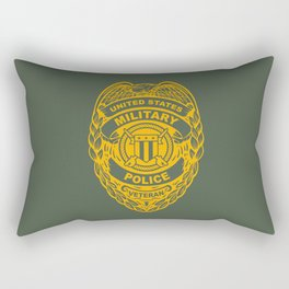 U.S. Military Police Veteran Security Force Badge, Gold Rectangular Pillow