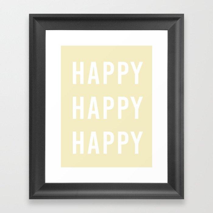happy happy happy Gerahmter Kunstdruck