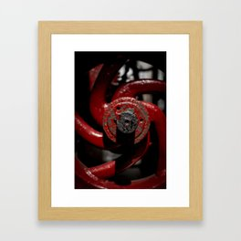 Red Valve Framed Art Print