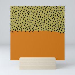 Abstract orange mid century art Mini Art Print