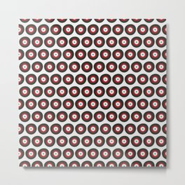 Red, Gray, & Blue Targets Metal Print