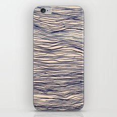 Writer's Block - wavy indigo / navy lines iPhone & iPod Skin