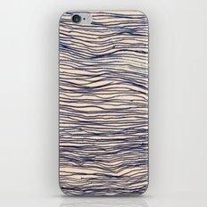 Writer's Block - wavy indigo / navy lines iPhone & iPod Skin
