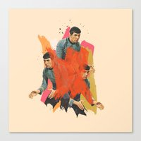 spock Canvas Prints featuring Spock by Iotara