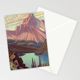 Lake O'Hara and Cathedral Mountain by James Edward Hervey MacDonald - Canada, Canadian Oil Painting Stationery Cards