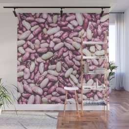 Shiny white and purple cool beans Wall Mural