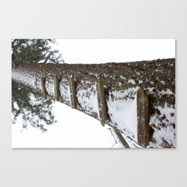 Stairway to Snow Canvas Print